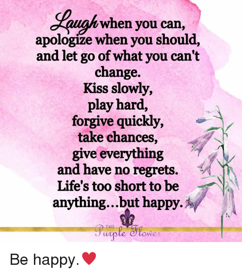how to let go and be happy