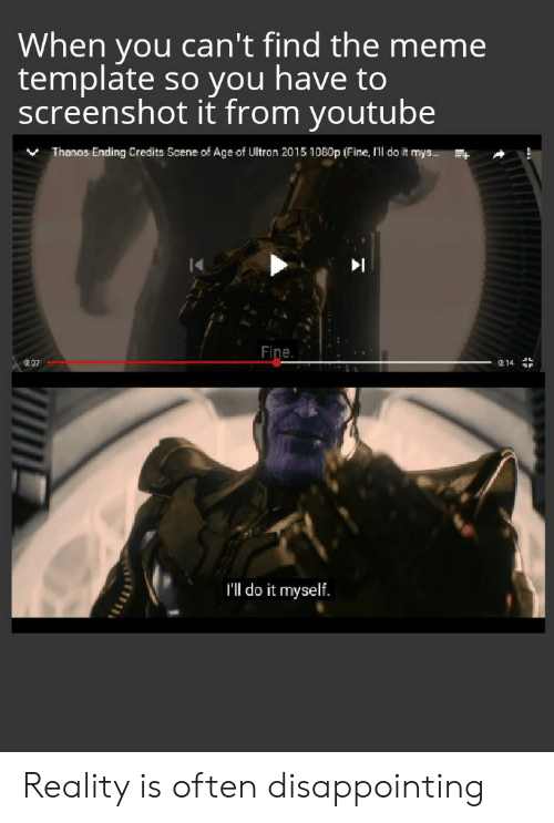 Thanos Meme Template A Small Price To Pay
