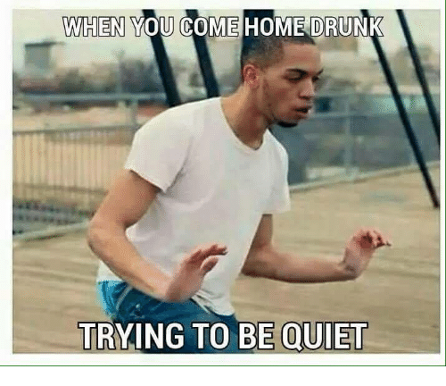when you come home drunk trying to be quiet 4915221 when you come home drunk trying to be quiet drunk meme on me me