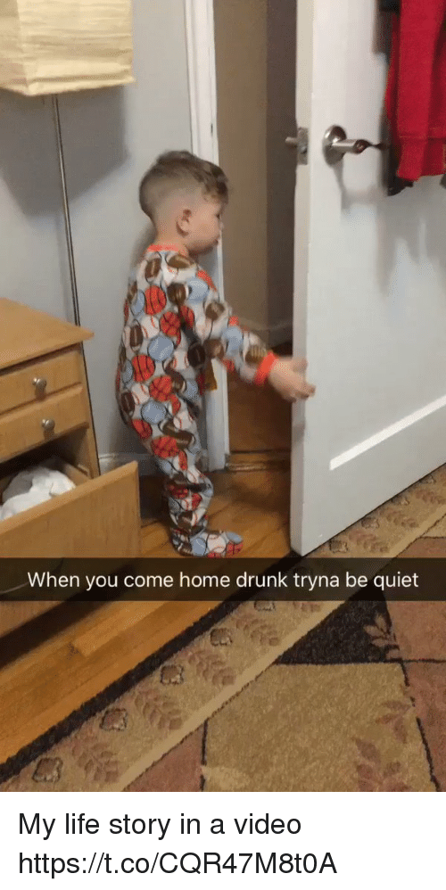 Drunk, Life, and Home: When you come home drunk tryna be quiet My life story in a video https://t.co/CQR47M8t0A