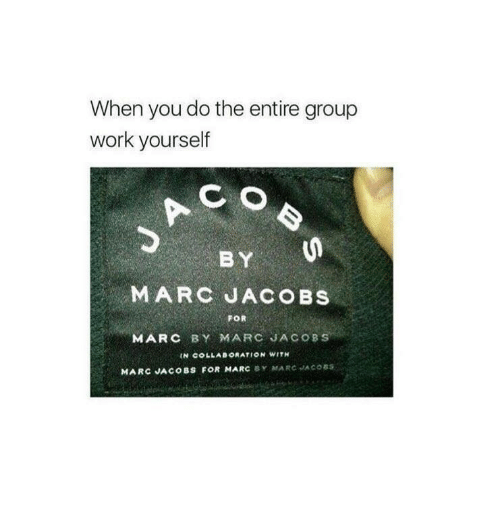 093a3e5375573 When You Do the Entire Group Work Yourself B Y MARC JACOBS FOR MARC ...