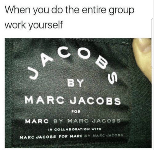 b9c109ec64671 When You Do the Entire Group Work Yourself MARC JACOBS FOR MARC BY ...