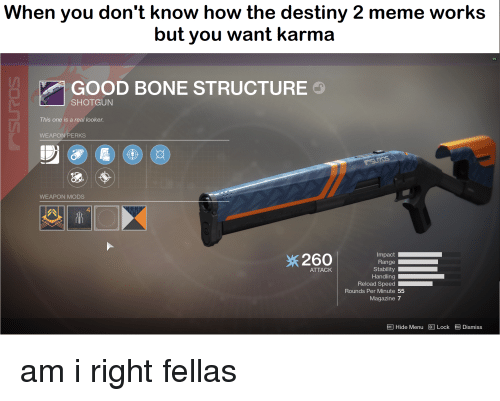 When You Don't Know How the Destiny 2 Meme Works but You