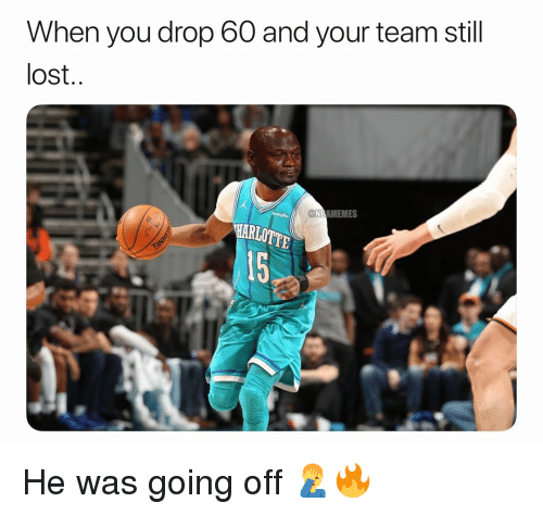 Basketball, Nba, and Sports: When you drop 60 and your team still  lost  NBAMEMES  15 He was going off 🤦‍♂️🔥