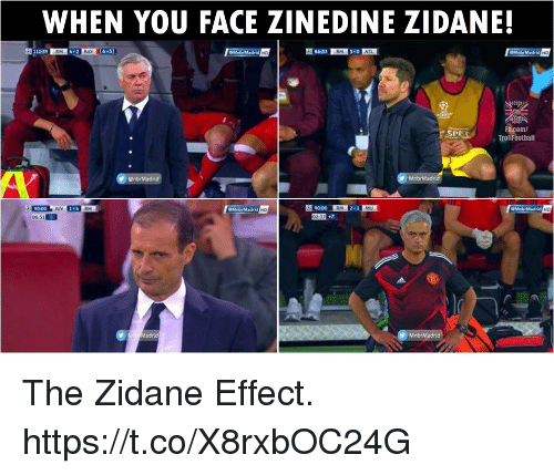 Memes, Zinedine Zidane, and 🤖: WHEN YOU FACE ZINEDINE ZIDANE!  6-3  PH  com/  TrollFootball  02377 The Zidane Effect. https://t.co/X8rxbOC24G
