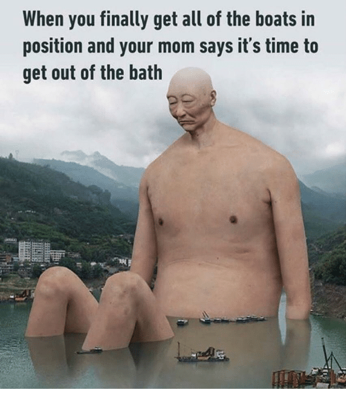 When You Finally Get All of the Boats in Position and Your Mom Says ...
