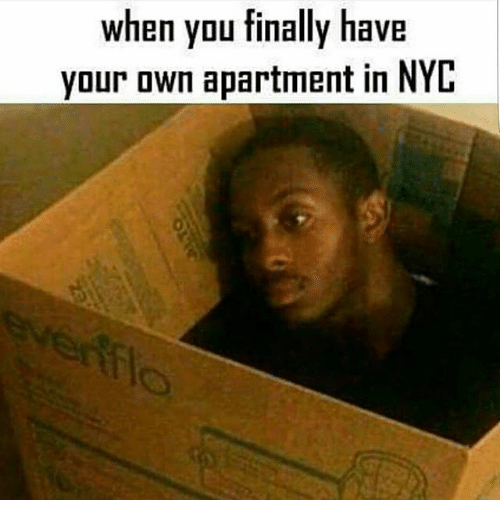 Memes And Nyc When You Finally Have Your Own Apartment In