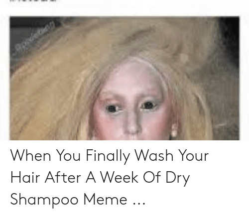 When You Finally Wash Your Hair After A Week Of Dry Shampoo Meme Meme On Me Me
