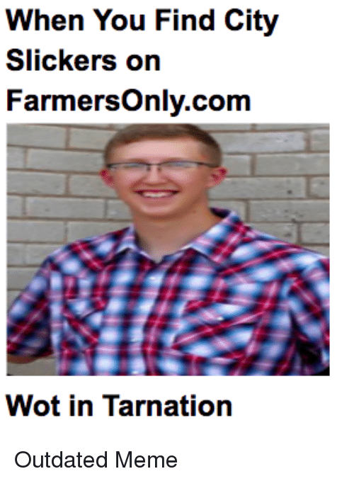 when you find city slickers on farmersonly com wot in tarnation 29576391 when you find city slickers on farmersonlycom wot in tarnation