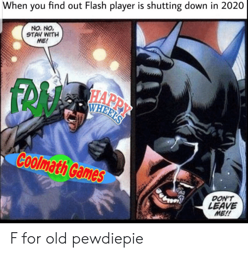 When You Find Out Flash Player Is Shutting Down in 2020 NO