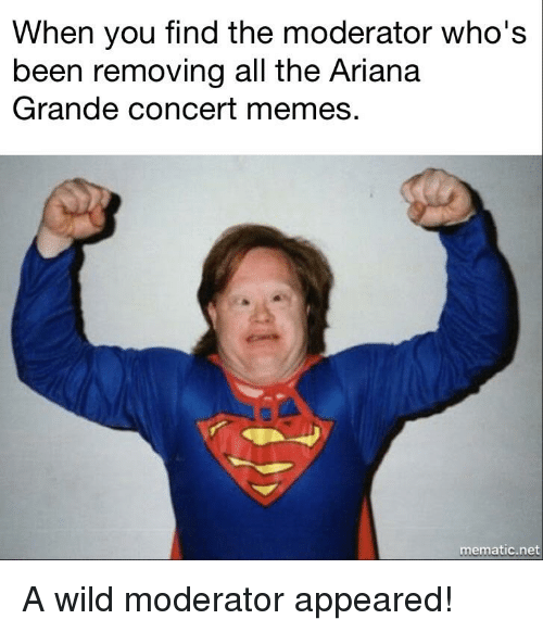 when you find the moderator whos been removing all the 21577548 when you find the moderator who's been removing all the ariana,Moderator Meme