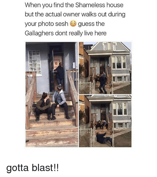 Shameless, Girl, and Photos: When you find the Shameless house  but the actual owner walks out during  your photo sesh  guess the  Gallaghers dont really live here gotta blast!!