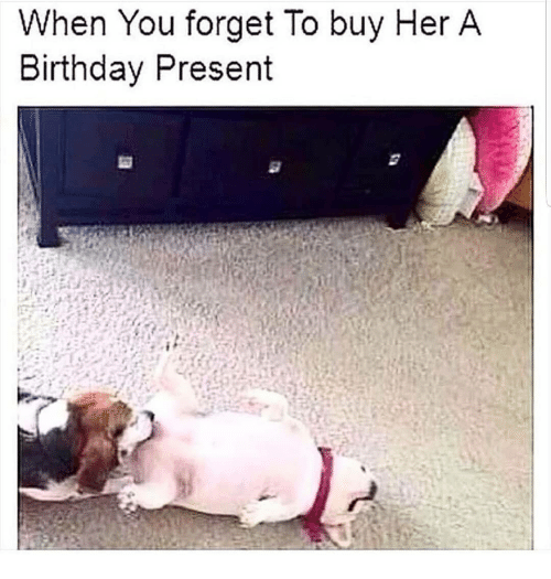 Birthday Memes And When You Forget To Buy Her A Present