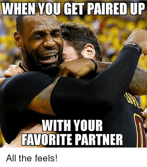 Ups, Firefighter, and All The: WHEN YOU GET PAIRED UP  WITH YOUR  FAVORITE PARTNER All the feels!