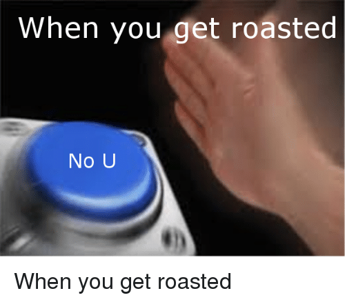 Reddit, You, and No U: When you get roasted  No U