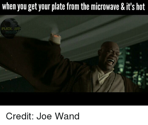 Youngling, Microwave, and Microwaves: when you get your plate from the microwave & it's hot  IN Credit: Joe Wand