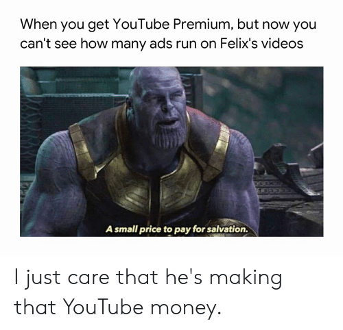 When You Get YouTube Premium but Now You Can't See How Many