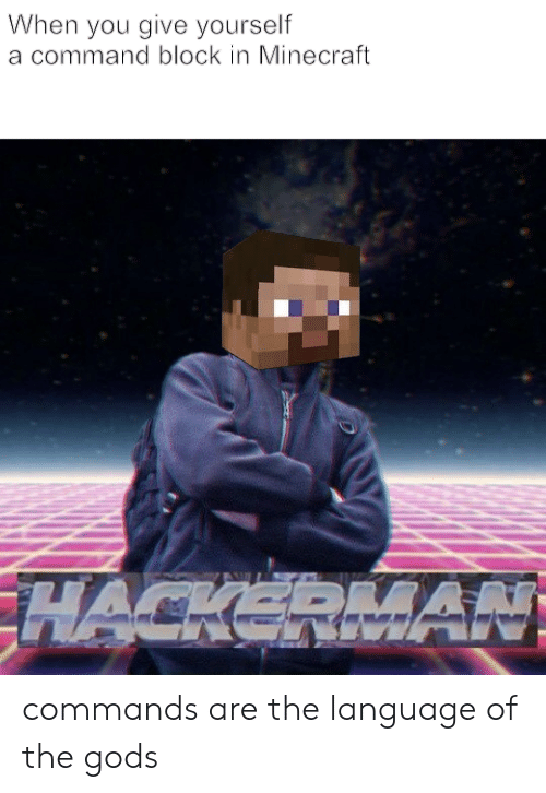 When You Give Yourself a Command Block in Minecraft Commands