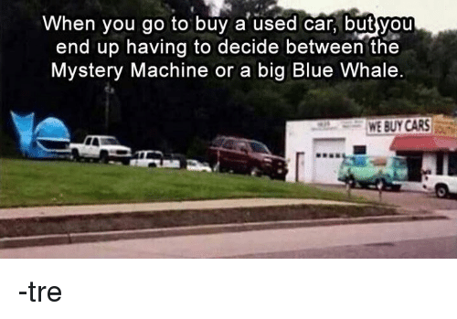 When You Go To Buy A Used Car But You End Up Having To
