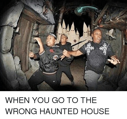 Memes, Haunting, And 🤖: WHEN YOU GO TO THE WRONG HAUNTED HOUSE