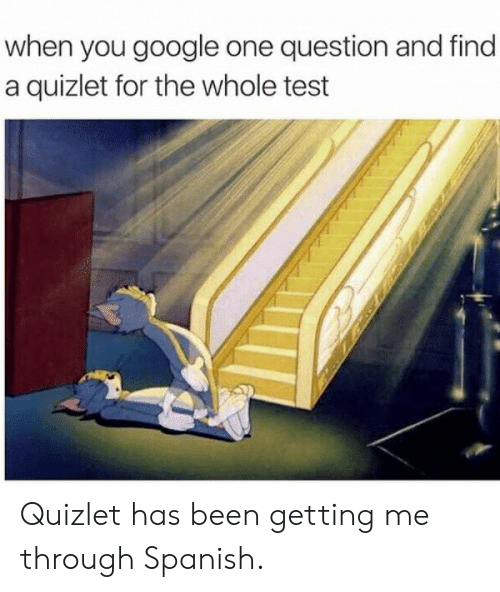 When You Google One Question and Find a Quizlet for the