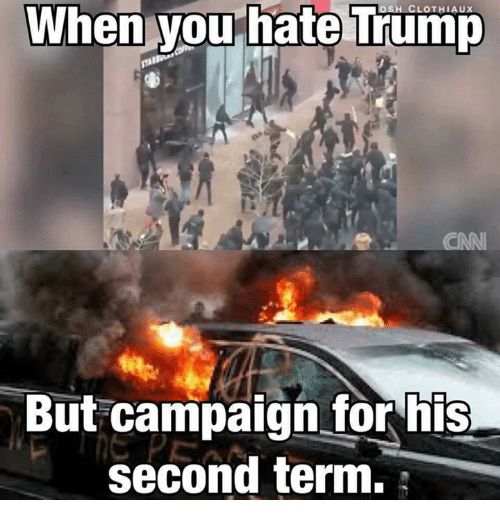 Memes, 🤖, and Campaign: When you hate Trump  But campaign for his  second term.