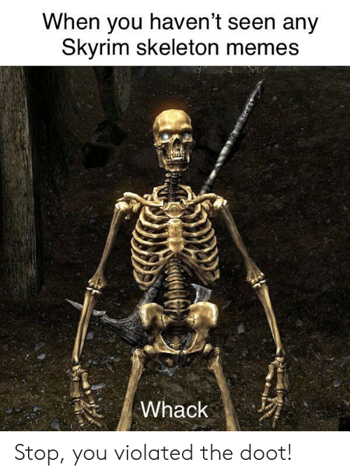When You Haven't Seen Any Kyrim Skeleton Memes Stop You