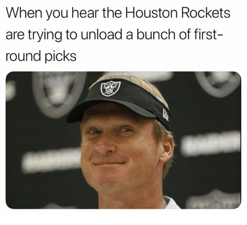 Houston Rockets, Nfl, and Houston: When you hear the Houston Rockets  are trying to unload a bunch of first-  round picks