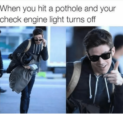 Light, Engine, And Check: When You Hit A Pothole And Your Check Engine
