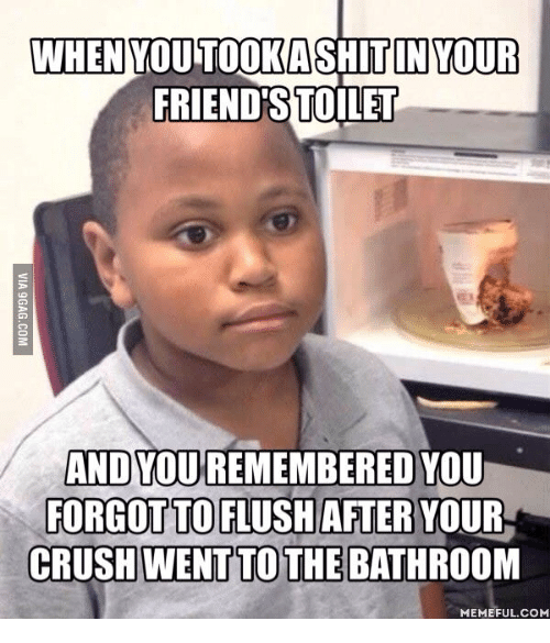 when you in your friend stoilet and you remembered you 13989286 ✅ 25 best memes about clogged toilet meme clogged toilet memes