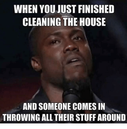Just Finished Work Quotes: WHEN YOU JUST FINISHED CLEANING THE HOUSE AND SOMEONE