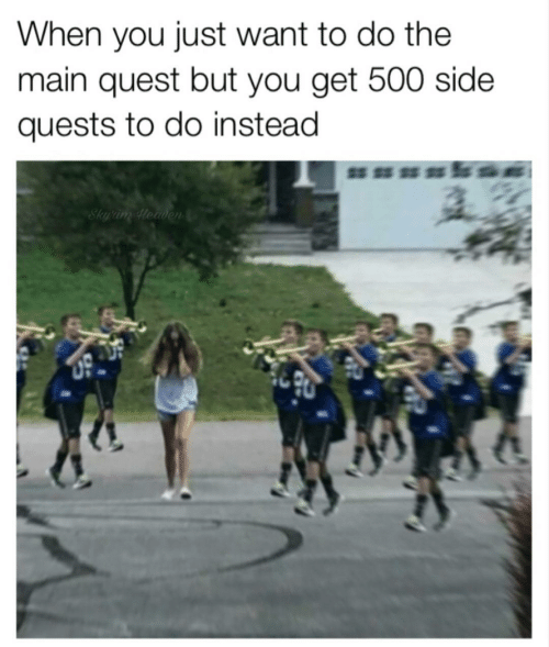 When You Just Want to Do the Main Quest but You Get 500 Side