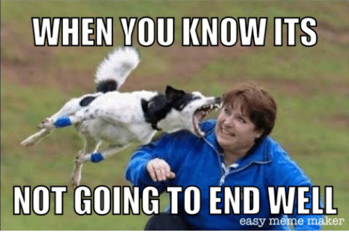 when you know its not going to end well easy meme maker meme on