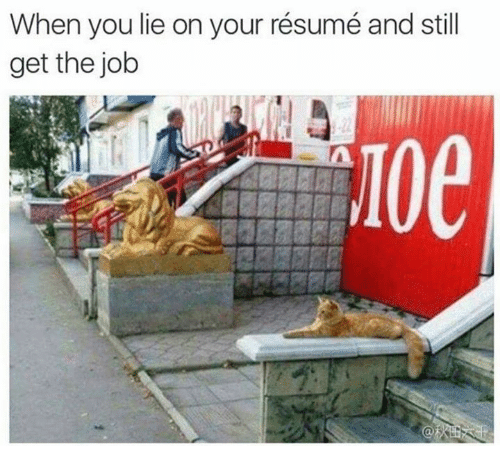 When You Lie On Your Resume