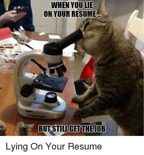 25 best memes about lie on your resume lie on your