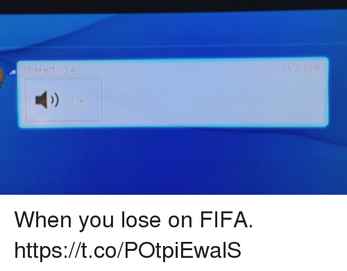 Fifa, Soccer, and You: When you lose on FIFA. https://t.co/POtpiEwalS