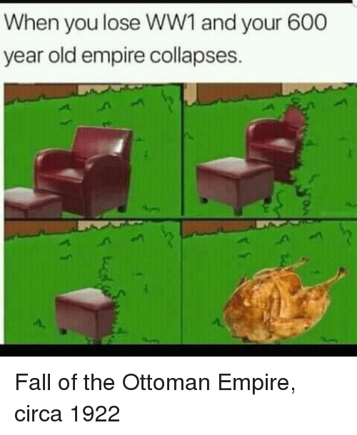 Empire, Fall, and Old: When you lose WW1 and your 600  year old empire collapses. Fall of the Ottoman Empire, circa 1922