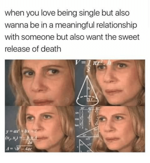 When you love someone but want to be single