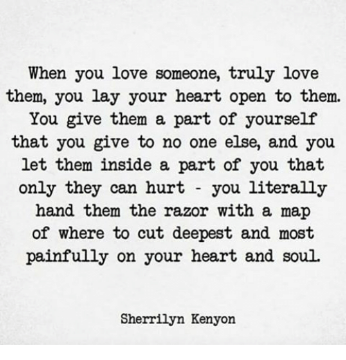 why does your heart hurt when you love someone