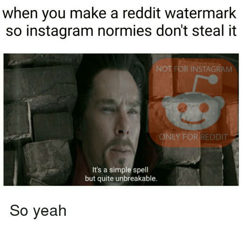 When You Make a Reddit Watermark So Instagram Normies Don't