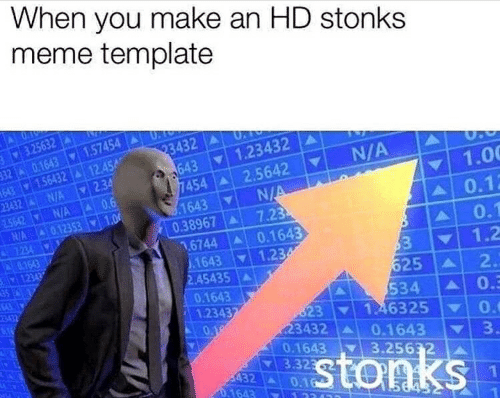 Meme Template Stonks - Luisa Rowe