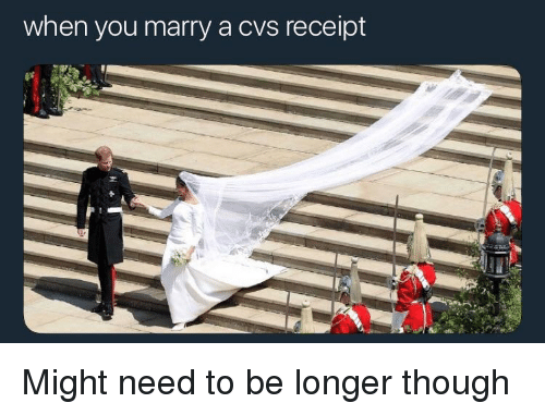 when you marry a cvs receipt reddit meme on