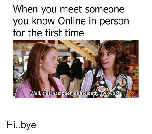 Meeting someone you met online