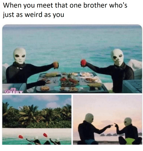 Weird, Brother, and One: When you meet that one brother who's  just as weird as you  ITS