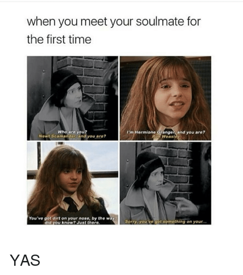 Meeting your soulmate for the first time