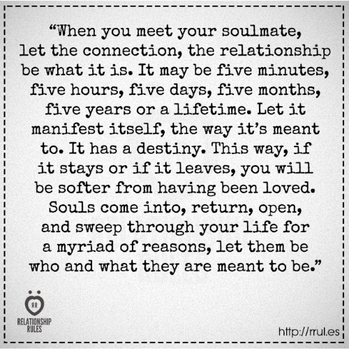 When do you meet your soulmate