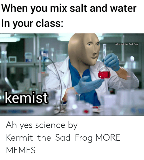 When You Mix Salt And Water In Your Class Ukermit The Sad Frog