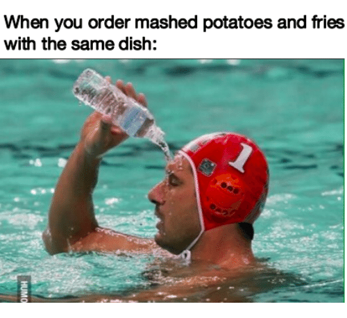Dish, Potatoes, and You: When you order mashed potatoes and fries  with the same dish: