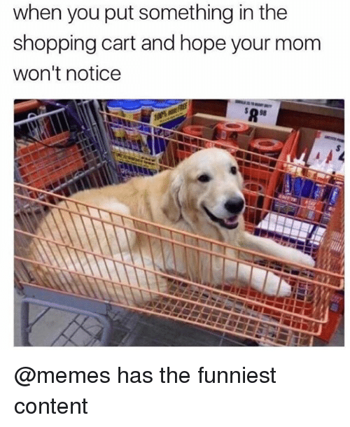 when you put something in the shopping cart and hope 27992118 25 best shopping cart memes double parked memes