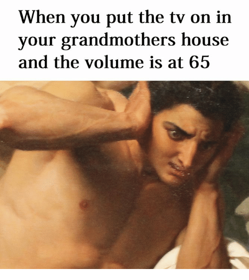House, Classical Art, and You: When you put the tv on in  your grandmothers house  and the volume is at 65
